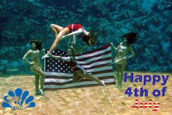 From the Weeki Wachee Springs Facebook page. Happy 4th, mermaids!