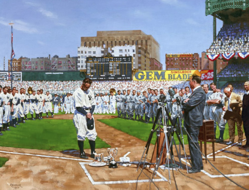 On this day 73 years ago, Yankees legend Lou Gehrig said he was the luckiest man on the face of the Earth. His speech and legacy will live on forever. Happy Fourth of July! Photo credit: Graig Kreindler