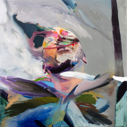 "Artist: Winston Chmielinski ""Exhale"" Oil and Acrylic on Canvas, 38"" x 38"" Inches"