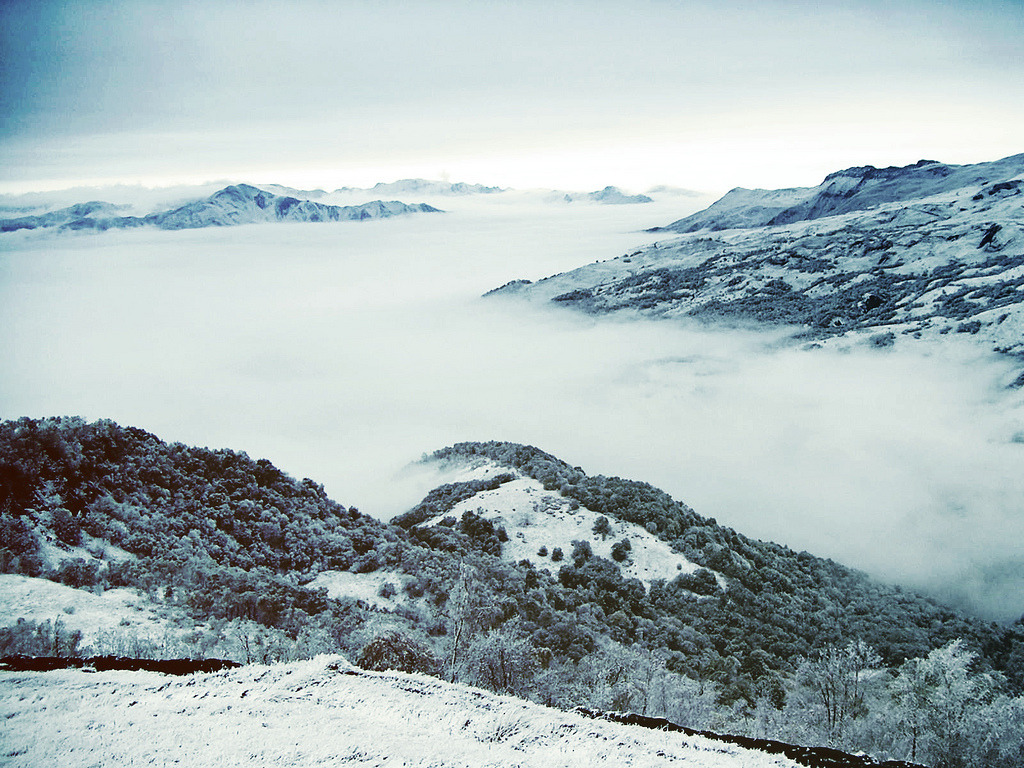 achsen:  North Caucasus in the fog. by Christina Timofeyeva on Flickr.