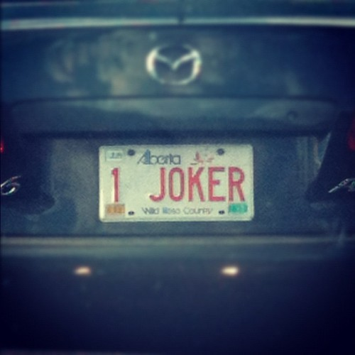 Where's Batman? #joker #batman  (Taken with Instagram at Banff National Park)