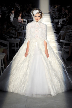sedgwickstudio:  Wichita girl Lindsey Wixon as Karl's bride, Chanel Haute Couture Fall 2012.