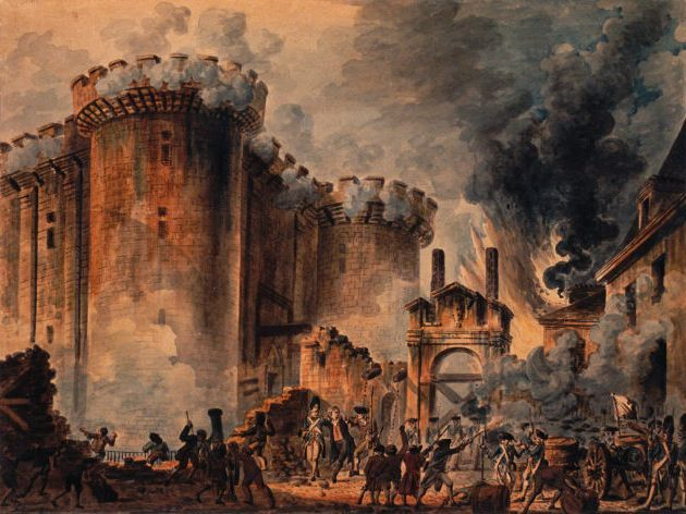 Today is Bastille Day, or, as it is more commonly called in France, le quatorze juillet. It is France's independence day, and it commemorates the storming and destruction of the Bastille prison in 1789, which marks the beginning of the French Revolution. Though the Bastille held only seven prisoners at the time, its capture symbolizes the monarchy's loss of power. Today, France celebrates Bastille Day with military airshows, parades, musical performances, dances, and fireworks. So wear your bleu, blanc, and rouge!