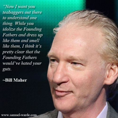 Sure, Bill Maher is a sexist dirty old man, but when vulva isn't involved, he is 50/50.