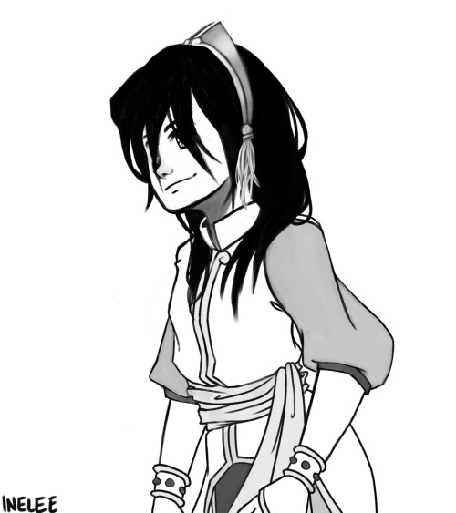 inelee:  super simple Toph with her outfit from The Promise! I will never stop drawing Toph. Neverrrrrr