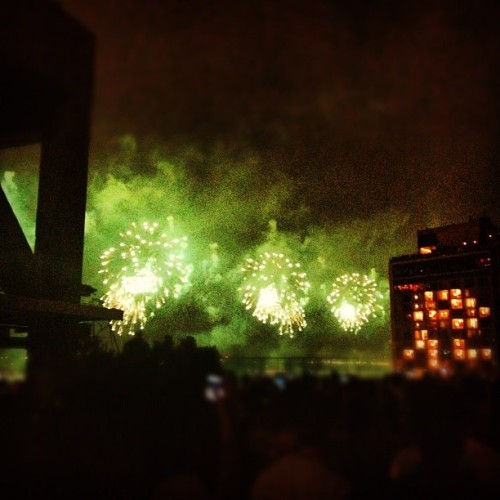 Fireworks over the Hudson.  (Taken with Instagram)