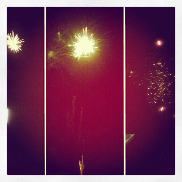 #4th of July, caught a lil bit of fireworks :) (Taken with Instagram)