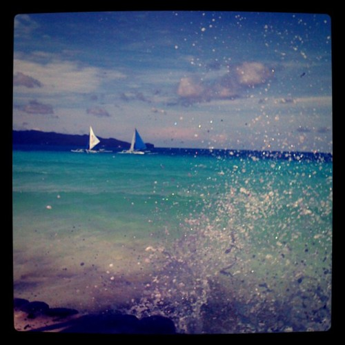 Enjoying this view for brekky— Sunny Boracay (Taken with Instagram)