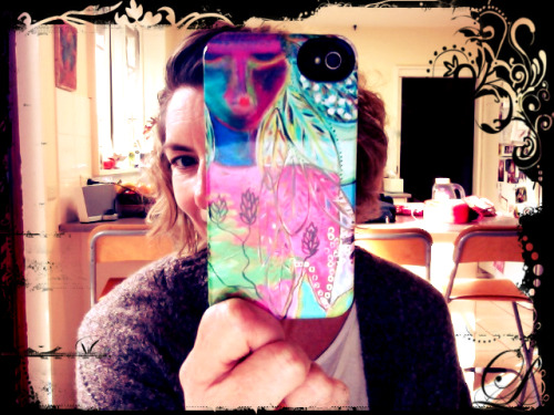 "I was very excited to receive my iphone cover from Redbubble in the mail the other day. The vibrant colours and quality are just perfect. If you feel like purchasing one of my art works on an iphone cover just click on the image. This is ""Guardian"""