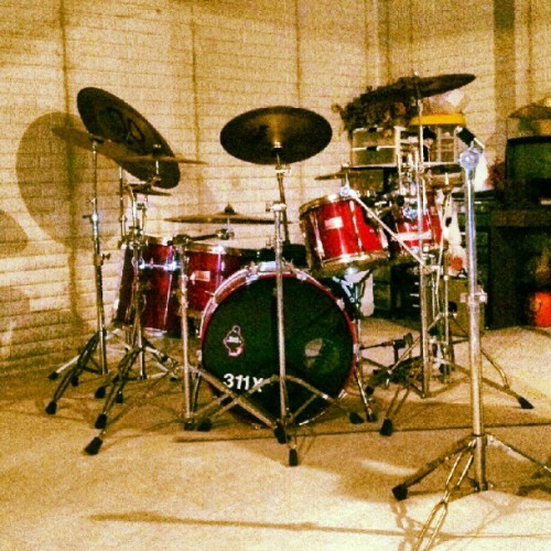 #drums #music #drumset #red #set #cool #shadow #shadows (Taken with Instagram)