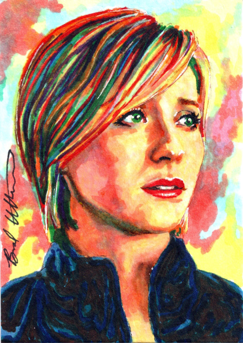Chloe Sullivan Smallville sketch card by ~therealbradu