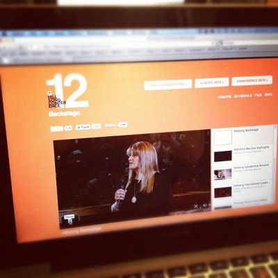 Absolutely loving this #hillsongconf2012 live stream (Taken with Instagram)