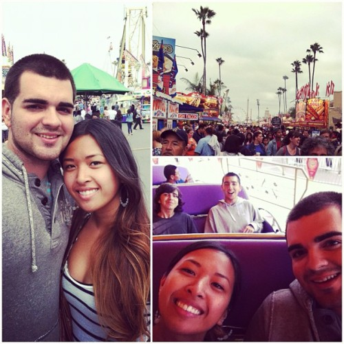 With the Dominguez fam today. #delmar #fair #4thofjuly #tired #summer 2012 (Taken with Instagram at San Diego County Fair)