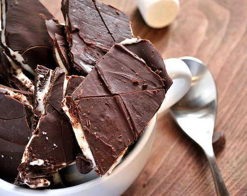 Tipsy Mexican Hot Chocolate Bark