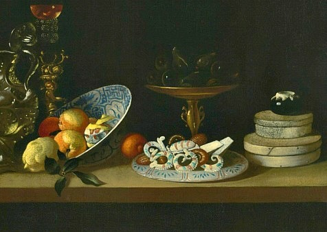 Workshop of Juan van der Hamen y Leon Still Life, detail 1630-35