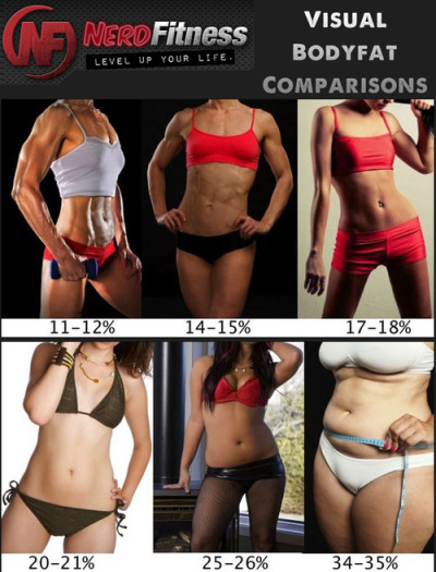 ahealthiervalerie:  fitspreme:  girllookitthatbody-ahh:  Visual Body Fat Comparisons - this is PERFECT! If the pictures are accurate, I'm somewhere around 20-21% & I'm striving for probably 17-18%.  last time i checked (a long time ago, using an online calculator and therefore with questionable accuracy) i was 24.88%… which still looks pretty spot on as far as these visual comparisons go. i'd love to be 17-18%, but would be happy anywhere <21%.  me want 21-23%  Everyone's beautiful through different eyes. I know that some would want a body with 11%-12%, and some would find that beautiful, the same goes with every single picture here. The only thing (which some people might had me for) is that I do not support people who are like 'I'm curvy and I don't care what society thinks', I don't want to support people who are obese, I'm not saying you have to 20%-21% body fat. I'm saying please lose weight to be healthy, to be in the healthy fat percent rate. When a friend smokes do you say 'oh no that's good for you, you're lungs are healthy, not covered in black :)' , no. You say 'put that death stick down, those things will kill you!'. I think the same should go with obesity, being extremely over weight will kill you! So when I friend is heading down that road tell them! Tell them to put down the Mcdonalds and go running with you. Being healthy is sexy.