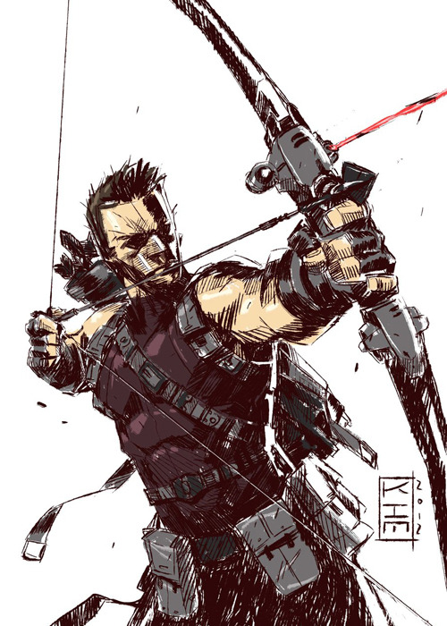 birdstump:  Hawkeye, by Kim Jacinto