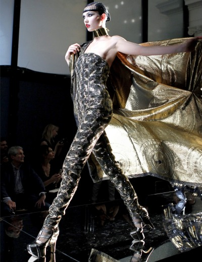 WERQ. This was my second-fave from the collection.  moisieur:  Karlie Kloss at Jean Paul Gaultier Couture F/W 2012
