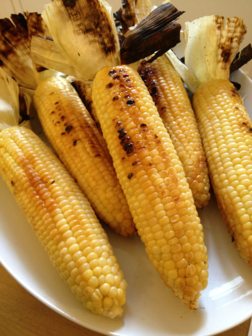 Corn: grilled and ready!
