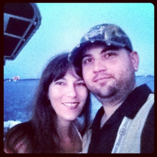 The Hubs @deznutsmlb and I on the boat for the Fireworks. Happy 4th of July! 😃 #love #Boat #Water #Florida #ILoveThisMan  (Taken with Instagram)