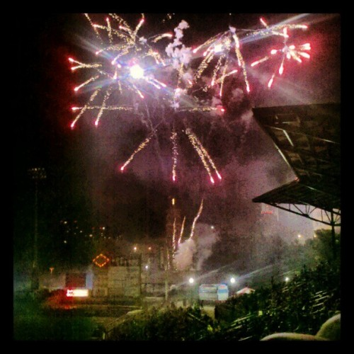 Explosions in the sky? #happybdaymerica (Taken with Instagram at Frontier Field)