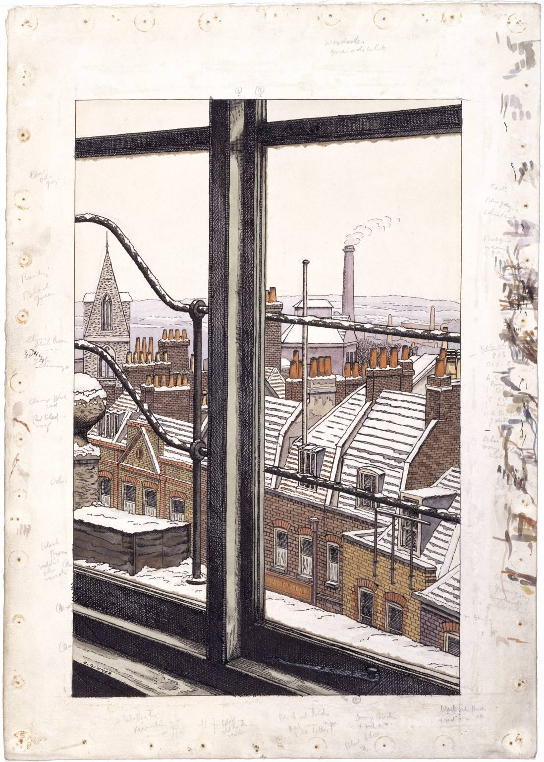 Charles Ginner, From a Hampstead Window, 1923