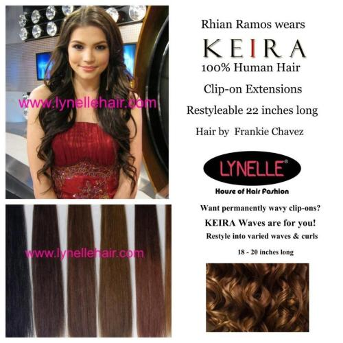 Rhian Ramos with super long,wavy hair using KEIRA Clip-on Human Hair Extensions! Get sexy,glam long hair in minutes! :)