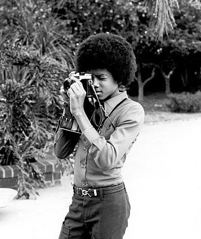 Behind the camera… Michael Jackson