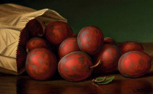 Levi Wells Prentice Bag of Plums  19th century