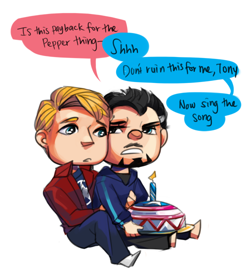 ironfries:  BIRTHDAY ART steve is old ps: The Pepper Thing