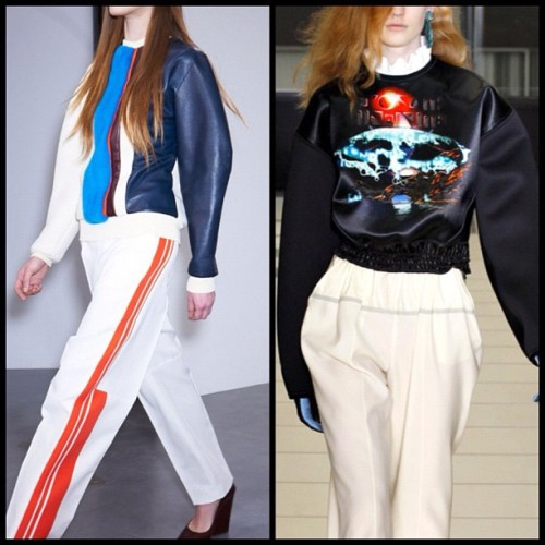 Red, White & Blue by 2 of my Franco-Favorites! (cc @BALENCIAGA / #Celine )  (Taken with Instagram)