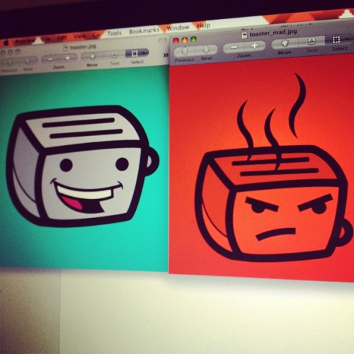 I made these logos for myself. Amir made up the nickname Toaster  (Taken with Instagram)