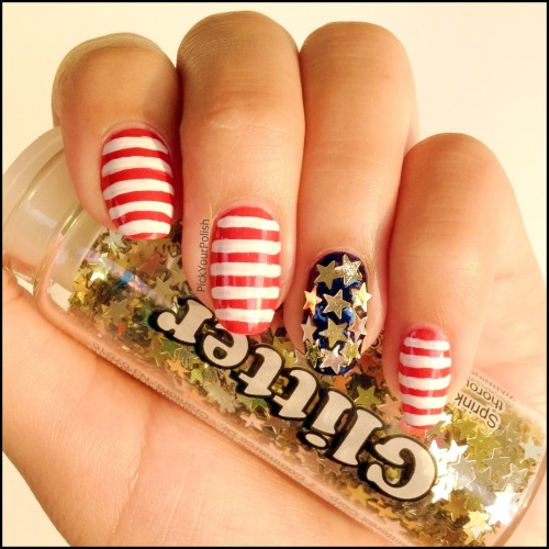 Independence Day Nail Art View Post shared via WordPress.com