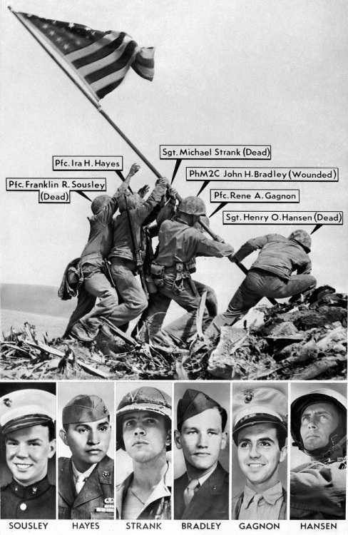 greatestgeneration:  They raised the flag on Iwo Jima.  Tell me again how it is just a piece of fabric.