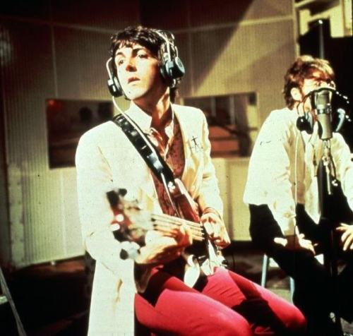 Paul and John in the studio.