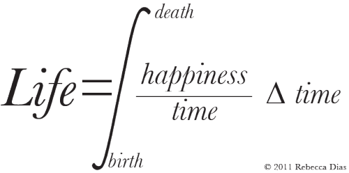 themathkid:  rootsofunity:  So Life=happiness*Ln(death/birth)?  Only if Happiness is not a function of time…