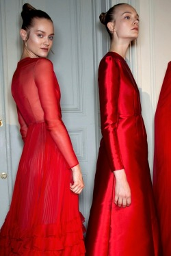 deus-e-x-machina:  Jac Jagaciak and Nimue Smit at Valentino FW 12
