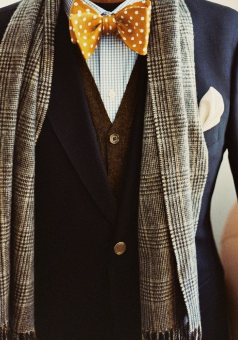 Tweed on Polka-dot on Gingham.   Work.