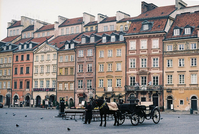 | ♕ |  Warsaw - Old Town square | by © evgenia kohan | via ysvoice