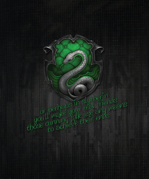 darkmarkburning:  The Magic Begins HP Challenge || Day 5. Favorite House  Slytherin will help you on the way to greatness, no doubt about that.