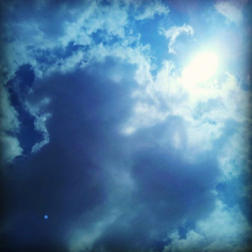beautiful sky #sky #indonesia #blue  (Taken with Instagram)