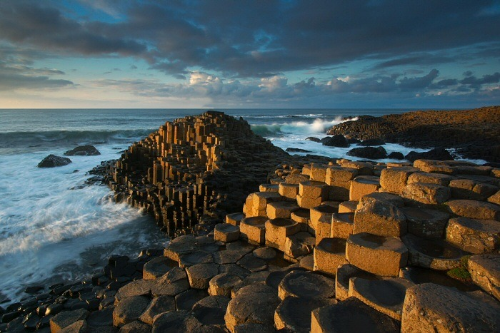 lupea:  The Giant's Causeway in Northern Ireland; a collection of 40,000 interlocking basalt columns, the result of an ancient volcanic explosion.