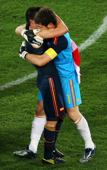 David Villa + Iker Casillas = the ultimate bromance.