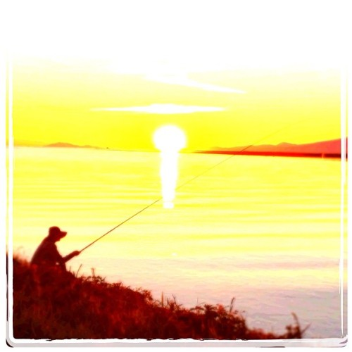 serenity #fishing #sunset #summer (Taken with Instagram)