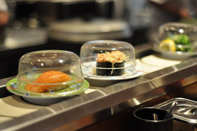 conveyor belt sushi by SpecialKRB on Flickr.