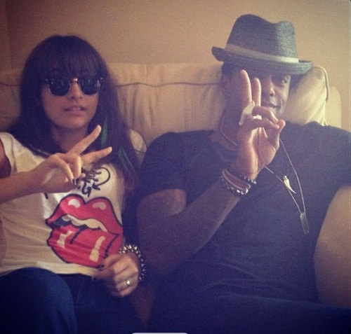 Another great photo of @AustinBrown and @ParisJackson and @AustinBrown! #family #backpackkids