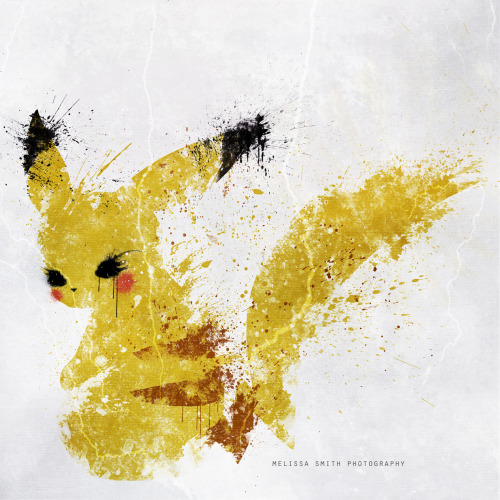 insanelygaming:  Pikachu  Created by Melissa Smith Art Shop / DeviantArt / Flickr  :0