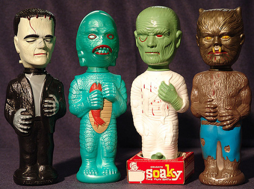 Set of monster Soakies (1960s)