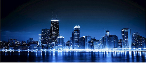 Nighttime in Chicago  by seechicagorealestate on Flickr.