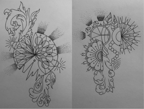 Two drawings that I've been working on  today. Unfinished, but they go okay.